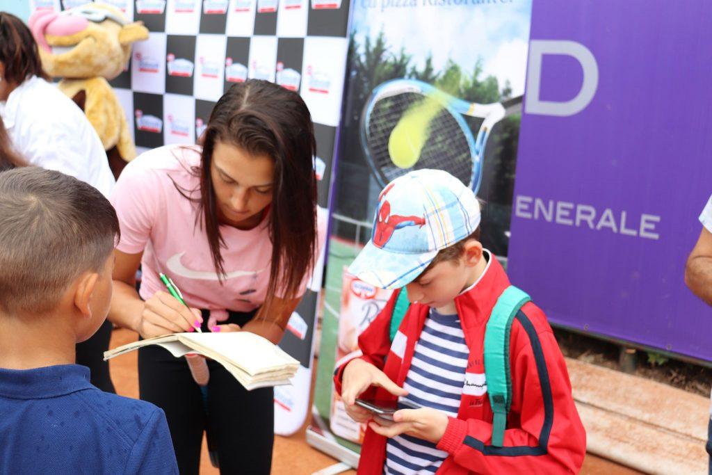 Irina Begu, Jaqueline Cristian și Gabi Ruse au participat la Kids Day Dr. Oetker din cadrul BRD Bucharest Open